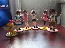 Cardcaptor Sakura official 90's Anime figures (set of 6) Sakura Kinomoto & Kero