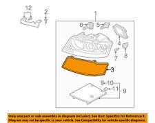 AUDI OEM A4 Headlight Head Light Lamp-Headlamp Assembly Gasket Left 8H0941191