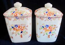 Vintage Moriyama Mori Machi Pottery Canisters Jars -Set of 2  - 6.5 in. - Japan