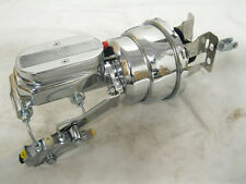 """Chevy Car 7"""" Dual Disc Drum Power Booster Kit with Milled Master CHROME NEW SALE"""