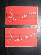 """LOT DE 2 BOITES D'AIGUILLES ANCIENNES """" Symphonie """" 2 X 3 aiguilles durables"""