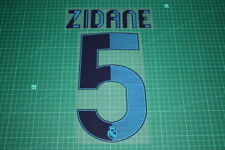 Flocage ZIDANE pour maillot blanc du REAL MADRID  patch football shirt
