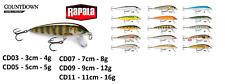 Rapala CountDown® Fishing Lures 3cm 5cm 7cm 9cm 11cm  / 4g - 16g Various Colours
