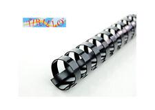CARTOLERIA - 10 dorsi plastici ad anelli per rilegatrice - 19 mm