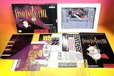 Final Fantasy III (Super Nintendo SNES 1994) 3 CIB Boxed Complete MINT VGC Rare