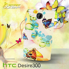 Butterfly Wallet Flip Leather Case For HTC Desire 300 + SG  fancy Photo ID Cover