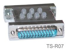 DB25 Male/Female RS232 Serial 7-LED Multi-Line Status Mini Tester, TS-R07