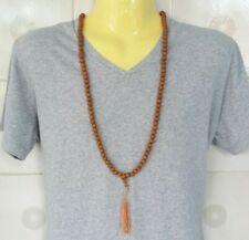Thailand Men Necklace Beads 108 Wooden Handmade Long New Beautiful Unique Long