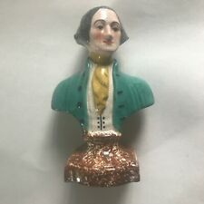Vintage Staffordshire George Washington Bust 8 Inches Tall