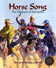 Horse Song: The Naadam of Mongolia-ExLibrary