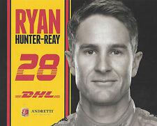 "2015 INDY 500 RYAN HUNTER-REAY USA ANDRETTI AUTOSPORT INDYCAR 8""X10"" HERO CARD !"