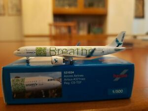 AZORES AIRLINES AIRBUS 321 NEO - HERPA 531634 1:500