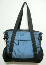 Vintage Eddie Bauer Small Travel Carry On Bag Lightweight Nylon Zip 13x15 VGC