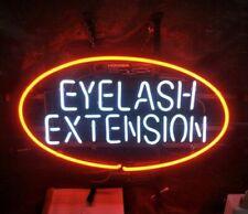 "Eyelash Extension Open Eye Neon Lamp Sign 17""x14"" Bar Light Glass Artwork"