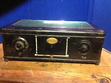 ATWATER KENT MODEL 46 1929 Green/Black Painted Metal Tube Radio Vintage Antique