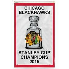 Chicago Blackhawks 2015 Stanley Cup Champions Vertical Banner 3' x 5' NHL Flag