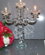 3 Arm Vintage Crystal Cut 2 In1 T- Light & Candlestick Holder Wedding Gift