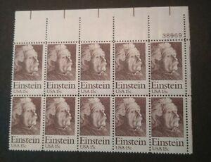 Rjkstamps Scott 1774 US  MNH. Block of 10 w/plate #38969  Einstein