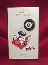 2008 Hallmark Magic 8 Ball Ornament - Eight Ball - Mattel Game - Box & Ball NIB