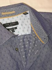 Ted Baker Mens Modern Fit Long Sleeve Blue Dress Shirt Sz 17 / XL  $165