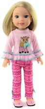Pink Reindeer & Leggings Outfit for American Girl Wellie Wishers Doll Clothes
