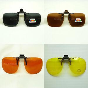 Clip on sunglasses flip up glasses 100% UV 400 blocking fishing shoot safety