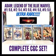 9.8 ADAM: LEGEND OF THE BLUE MARVEL #1, 3, 4, 5! 9.4 #2 LOT! CGC ULTRA RARE!