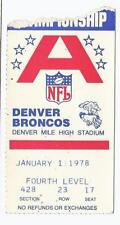 1977 AFC Championship Ticket Stub Raiders @ Broncos Mile High Stadium RARE VHTF