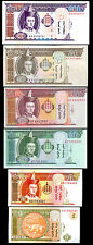 MONGOLIA 10 SETS OF 6 PCS 1 5 10 20 50 100 2000-2009 UNC