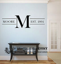 Custom Personalized Family Name Wall Stickers Vinyl Wall Decals Art Mural Decor