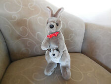 AUSTWIN Brand Plush Kangaroo with Baby in Pouch - Made in Australia