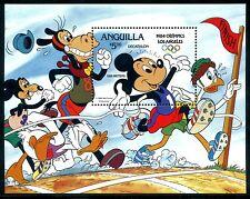 Anguilla 568, 1984 Walt Disney characters Mickey Olympics Animation x10511