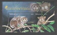 2008 MALAYSIA NOCTURNAL ANIMALS (M/S) MNH