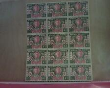 15 Hong Kong Stamps 1946 Victory $1  New, Unused Sheet