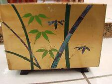 "Sharp #PF116 ""Pagoda"" Tube Radio Rare Gold  Laquer w/ Bamboo Decoration works"