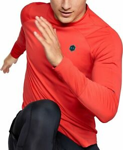 Under Armour ColdGear Rush Mock Long Sleeve Mens Training Top - Red - NWT