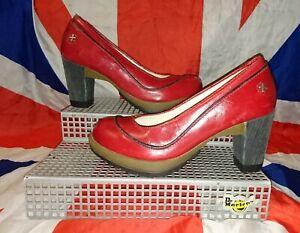 Mint*Calista*Cherry Red Dr Doc Martens Heels*50s Burlesque Pin Up Goth Punk*5