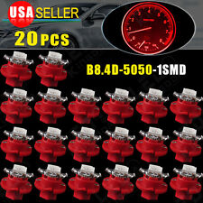 20X T5 Car B8.4D LED Speedo Dashboard Dash Wedge Side Light Bulb Lamp Red 12V