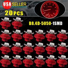 20X T5 Car B8.4D LED Speedo Dashboard Dash Wedge Side Light Bulb Lamp Red 12V
