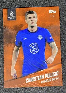 2021 Topps X Giovanni Reyna American Dream CHRISTIAN PULISIC RED #'d /5 Chelsea
