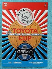1995-Club Coppa del Mondo programma FINALE-AJAX V Gremio-V.G condition