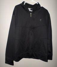 FILA SPORT slick black XL jacket 1990s athletic windbreaker Italy polyester