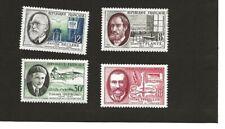 SAVANTS ET INVENTEURS 1957 - 4 TIMBRES NEUFS - N° 1095 à 1098