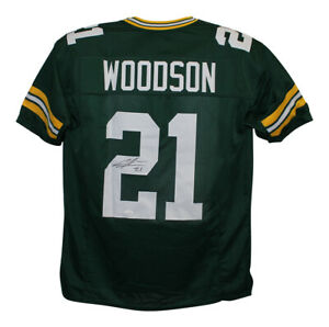 Charles Woodson Autographed/Signed Pro Style Green XL Jersey JSA 28139