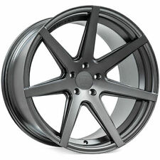 "4ea 20x9/20x11"" Staggered Rohana Wheels RC7 Matte Graphite Rims (S5)"