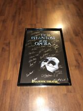 Autographed Broadway The Phantom of The Opera Late 1990s Poster Thomas O'Leary