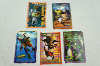 Crash Bandicoot Vintage 1999 Collectible Sticker Set 2 with 5 Stickers S02