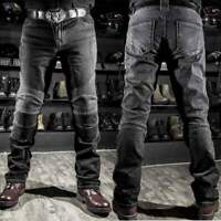 Cool Men Fitted Motorcycle Jeans Motorbike Pants Denim Trousers Off Road Padded