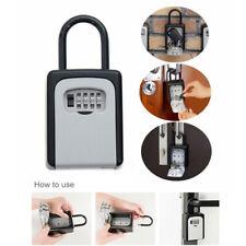 4-Digit Combination Lock Key Safe Storage Box Padlock Security Home Outdoor