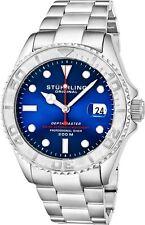 Stuhrling Depthmaster Men's 18 Jewel Swiss Automatic 200 Meter Dive Watch 893.03